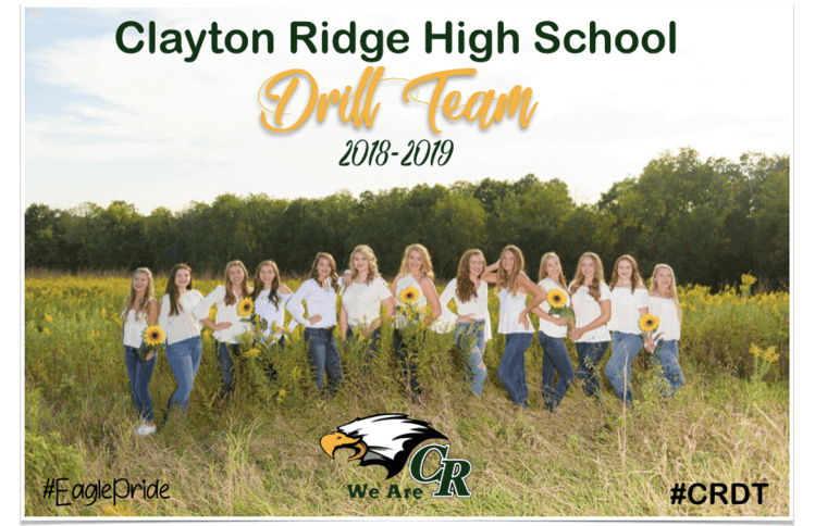 Drill Team Photo from the 2018-2019 Season
