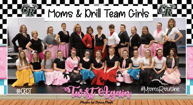 Moms & Drill Team Girls Twist Again
