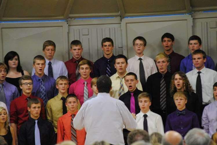 Mixed Choir during concert