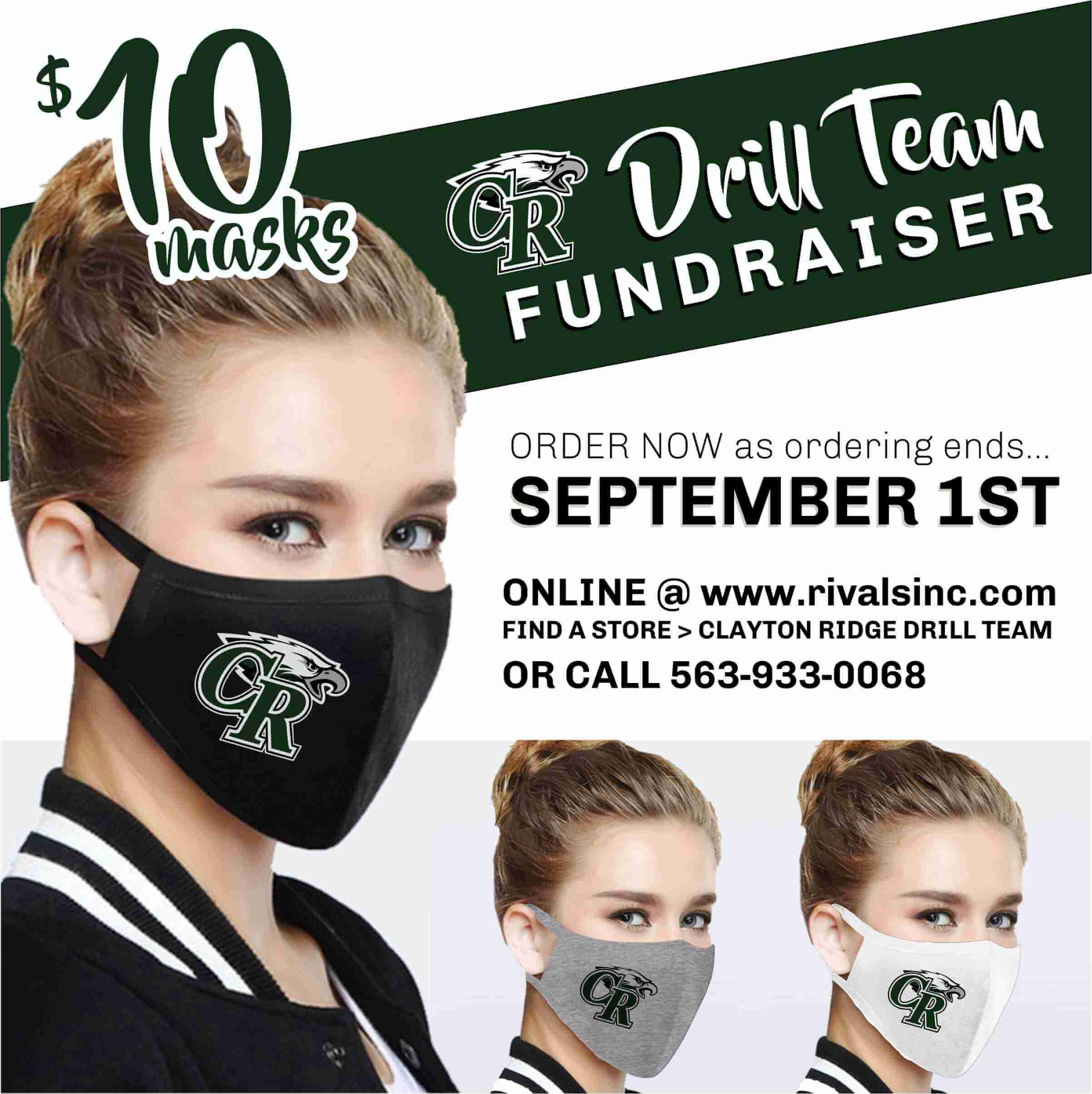 CR Drill Team Fundraiser: $10 CR Masks