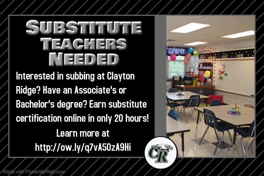 Substitute Teachers Needed