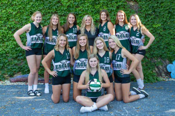 2020 Clayton Ridge JV Volleyball Team