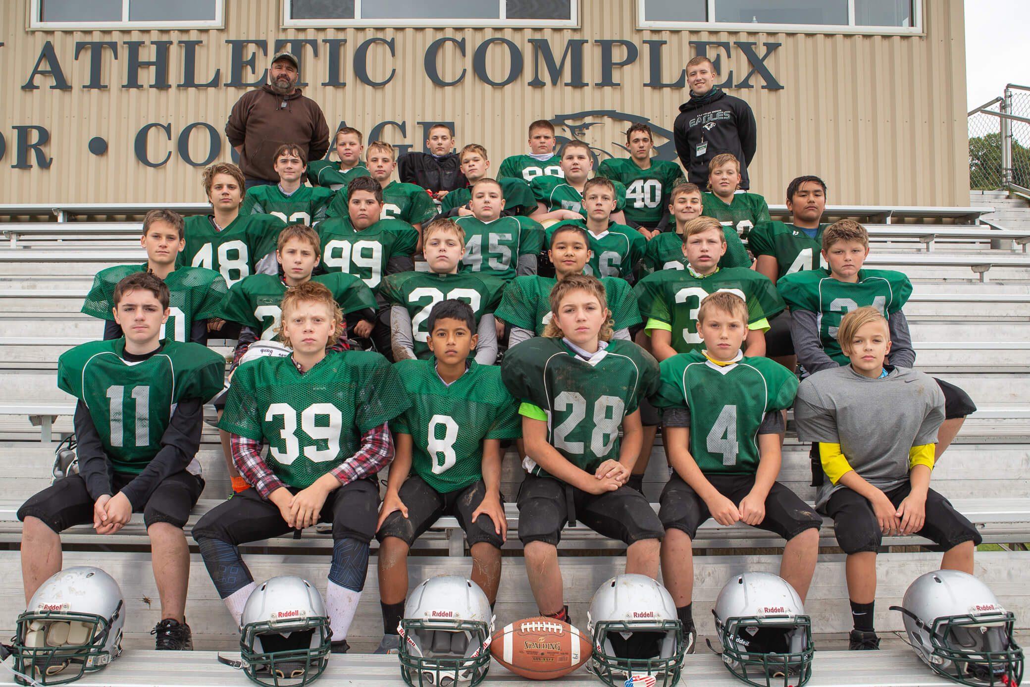 2020 Middle School Football Team