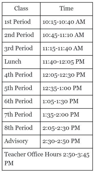 Snow Day Remote Learning Schedule